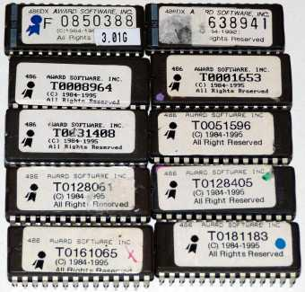10x Award Software Inc. 486 & 486DX Bios EPROMs 1984-'95