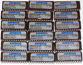 18x American Megatrends Amibios 486DX ISA Bios EPROMs 1992-'93