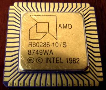 286er AMD R80286-10/S - Intel 1982 CPU