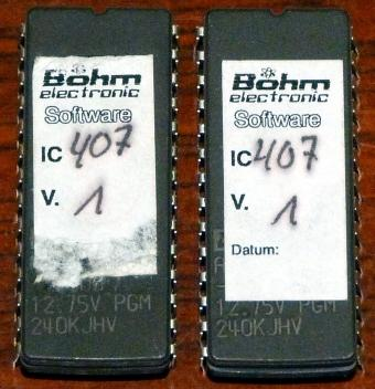 2x Böhm electronic Software IC 407 V. 1 EPROM