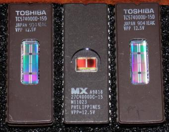 2x Toshiba TC574000D-150 Japan EPROMs MX-27C4000DC-15 Philippines