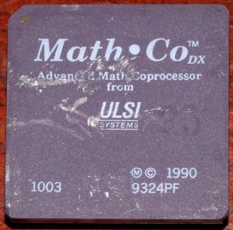 386er Math-Co DX 25MHz Advanced Math Coprocessor from ULSI Systems 68-pin cPGA USA 1990
