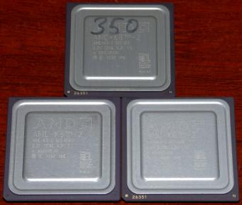 3x AMD K6-2 350MHz CPUs 350AFR 2.2V Core 3.3V I/O Malay 1998