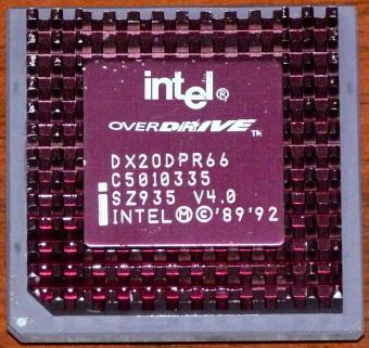 Intel 486er Overdrive DX20DPR66 CPU sSpec: SZ935 1989-92
