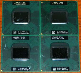4x Intel Core 2 Duo Mobile T7400 (Merom) 2.16GHz CPU 4MB sSpec: SL9SK BGA479 2006