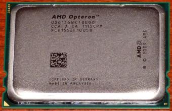 5x AMD Opteron 6136 Octa Core CPU 8x 2.4GHz, 12MB Cache, Sockel G34, OS6136WKT8EGO, Germany/Malaysia 2009