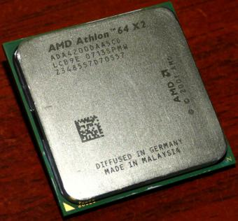 AMD Athlon 64 X2 4200+ CPU (K8 Toledo) ADA4200DAA5CD 2x 512 KB L2, Socket-939 Germany/Malaysia 2005