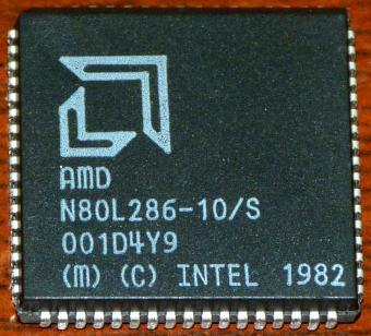AMD 80L286-10/S CPU Intel 1982
