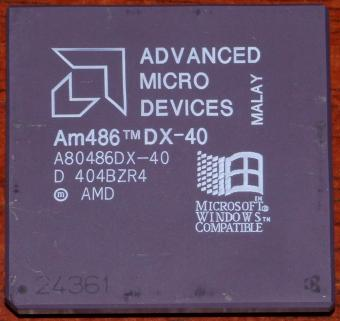AMD Am486 DX 40MHz CPU A80486DX-40 Windows Compatible Malay