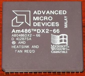 AMD Am486DX2 66MHz CPU A80486DX2-66