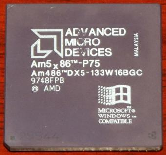 AMD Am5x86-P75 CPU Am486DX5-133W16BGC