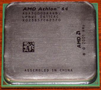 AMD Athlon 64 3000+ CPU (K8 Venice) ADA3000DAA4BW LBBWE 0611CAC Socket-939 China 2001