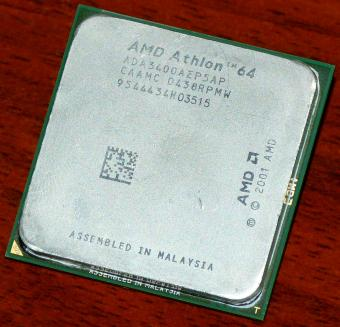 AMD Athlon 64 3400+ 2,2GHz ES CPU (Engineering Sample) ADA3400AEP5AP (K8 ClawHammer) Socket-754 2001