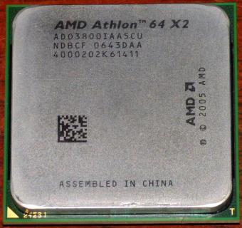 AMD Athlon 64 X2 3800+ CPU (K8 Windsor) AD03800IAA5CU NDBCF 0643DAA Socket-AM2 2005