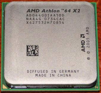 AMD Athlon 64 X2 4400+ CPU ADO4400IAA5DD (K8 Brisbane) 2.3GHz Socket AM2 Diffused in Germany / China 2005