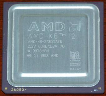AMD K6-2 300AFR CPU 2.2V Core 3.3V I/O 1998