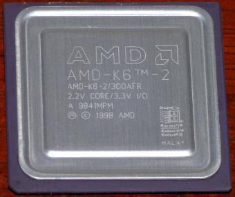 AMD K6-2 300MHz CPU K6-2/300AFR 2.2V Core 3.3V I/O Malay 1998