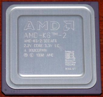 AMD K6-2 350MHz CPU 350AFR 2.2V Core 3.3V I/O Malay 1998