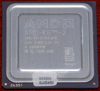AMD K6-2 450MHz CPU K6-2/450AFX 2.2V Core 3.3V I/O Malay 1998
