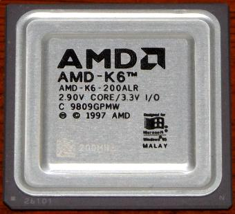 AMD K6 200MHz CPU K6-200ALR 2.90V Core 3.3V I/O Malay 1997
