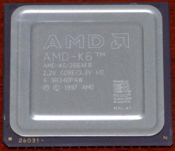 AMD K6 266MHz CPU 266AFR 2.2V Core 3.3V I/O Malay 1997