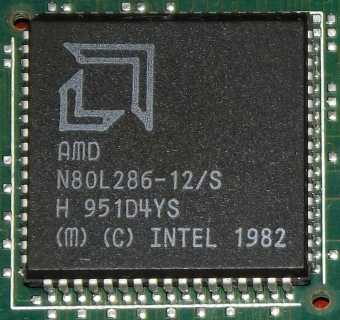 AMD N80L286-12/S CPU Intel 1982