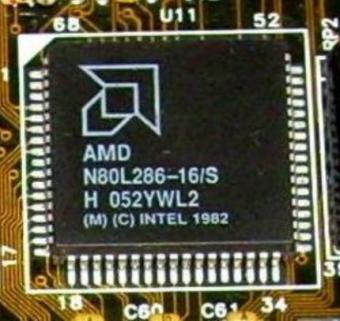 AMD N80L286-16/S Intel 1982 & Acer M1207-16 Chipsatz