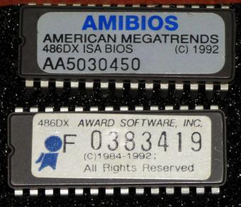 Amibios American Megatrends 486DX ISA Bios 1992 & Award 486DX Bios 1992