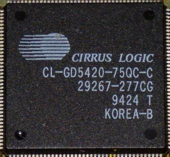 Cirrus Logic CL-GD5420-75QC-C GPU