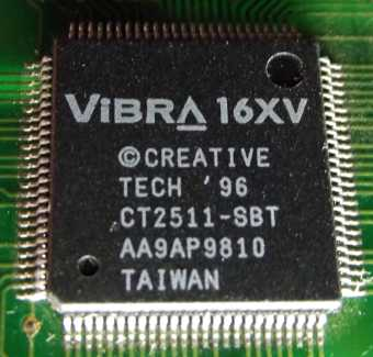 Creative Vibra 16XV Chipset 1996