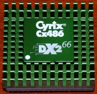 Cyrix Cx486-DX2 66MHz CPU green Cooler A3LM446F USA 1993