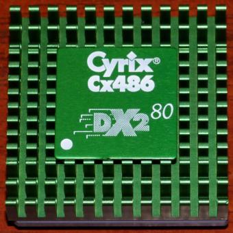 Cyrix Cx486-DX2 80MHz CPU green Cooler A8LP514L USA 1993