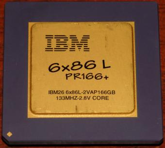 IBM 6x86 L PR166+ CPU IBM26 (6x86L-2VAP166GB) 133MHz 2,8V Core, (Low Voltage) Cyrix USA 1995