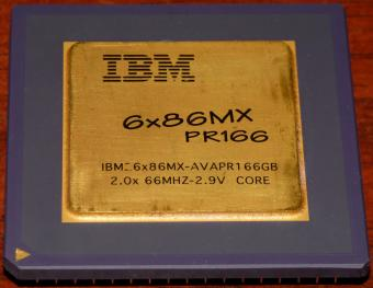 IBM 6x86MX PR166 CPU (IBM26x86MX-AVAPR166GB) 2x66MHz 2.9V Core, Cyrix USA 1995-97