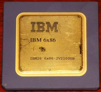 IBM 6x86 100MHz CPU 6x86-2V2100GB (Goldcap ohne P-Rating) Cyrix USA 1995