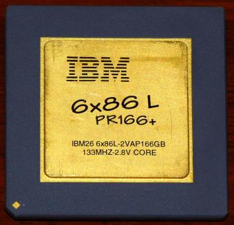 IBM 6x86 L PR166+ IBM26-6x86L-2VAP166GB CPU 133MHz 2.8V Core (Low Power & Low Voltage) Cyrix USA 1995