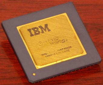 IBM 6x86 P200+ Goldcap 150MHz CPU Cyrix USA 1996