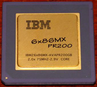 IBM 6x86MX PR200 CPU IBM26x86MX-AVAPR200GB 2x 75MHz 2.9V Core Cyrix USA 1997
