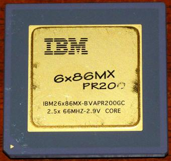 IBM 6x86MX PR200 CPU IBM26x86MX-BVAPR200OGC 2,9V Core Cyrix USA 1997