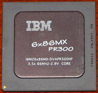 IBM 6x86MX PR300 Black CPU IBM26x86MX-DVAPR300HF 3.5x66MHz 2.9V Core Cyrix Corp. 1995-1998 USA