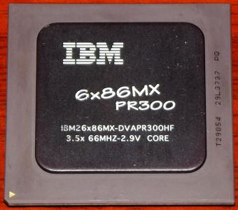IBM 6x86MX PR300 CPU IBM26x86MX-DVAPR300HF 3.5 x 66MHz 2.9V Core Copr. Cyrix 1995/98 USA