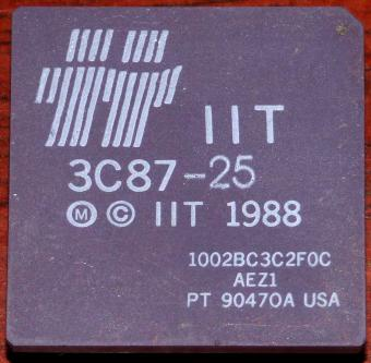 IIT 386er 25MHz FPU 3C87-25 cPGA-68 Integrated Information Technology USA 1988