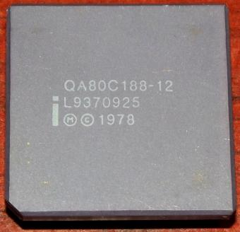 Intel 188 12MHz - QA80C188-12 CPU 1978