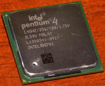 Intel Pentium 4 CPU 1.4GHz sSpec: SL59U (Willamette) Socket-478 Malay 2001