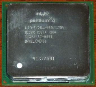 Intel Pentium 4 (Willamette) 1,7GHz CPU sSpec: SL59X Costa Rica 2001