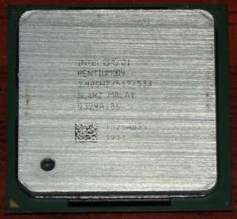 Intel Pentium 4 CPU 2,40GHz sSpec: SL6RZ (Northwood) Socket-478 2001