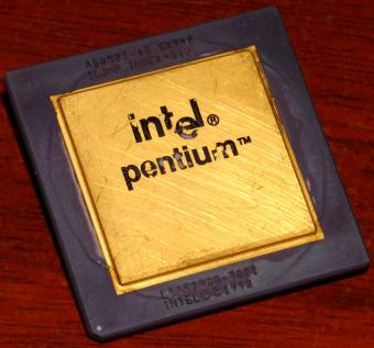 Intel Pentium 60MHz CPU sSpec: SX948 A80501-60 Icomp-Index=510 Malay 517S 1992