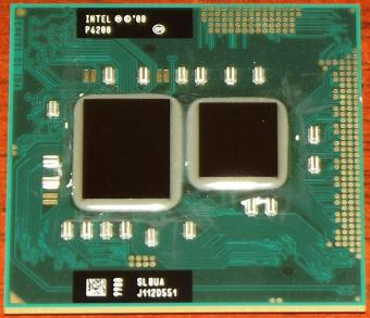 Intel Pentium Dual-Core 2,13GHz Mobile P6200 CPU sSpec: SLBUA (Arrandale) mit HD-Graphics, PGA988 Sockel G1, 3MB L3-Cache, 2008