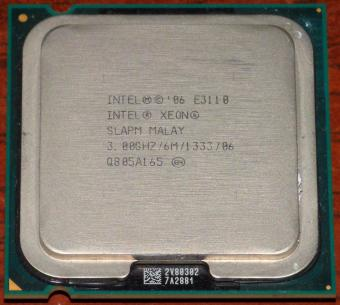 Intel Xeon E3110 2-Core CPU 3.00GHz/6M/1333 sSpec: SLAPM Sockel-775 Malay 2006