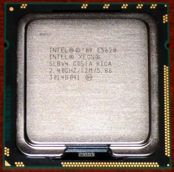 Intel Xeon E5620 4x 2.40GHz CPU Quad-Core 12MB Smart-Cache sSpec: SLBV4 (Westmere-EP) Sockel-1366 Costa Rica 2004